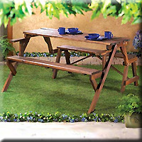Rustic Convertible Garden Table